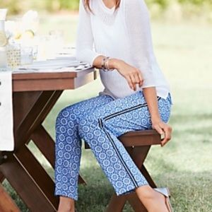 Talbots Blue and White Print Pants